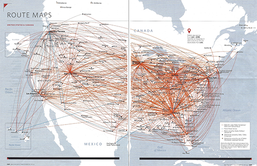 Design Challenge Airline Route Maps Delta Flight Map Us